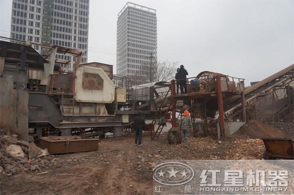 建筑垃圾破碎站--客户现场
