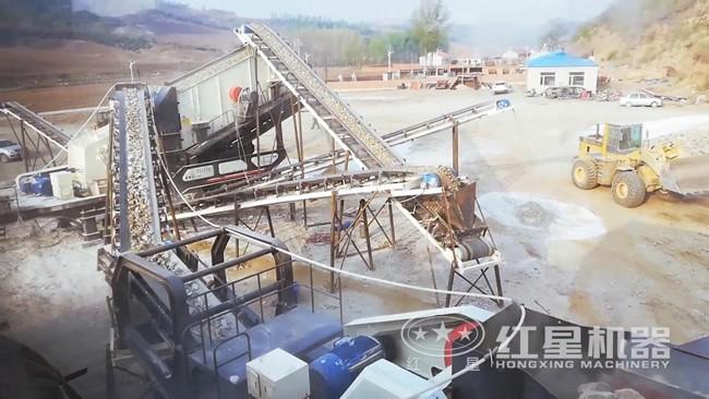 移动石料破碎生产线