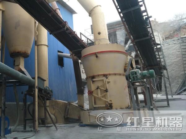 5R立式磨粉机现场作业图