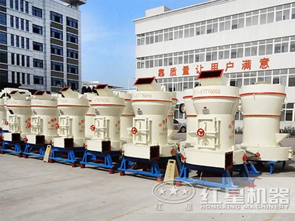 排排列整齐雷蒙磨粉机