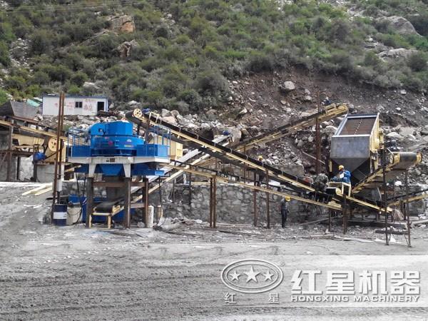 机制砂生产线---客户安装现场