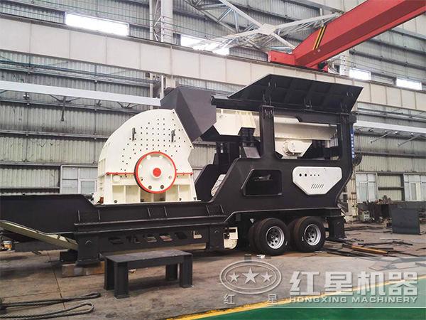 时产200吨车载流动砸石机
