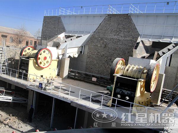红星时产100吨石料生产线现场