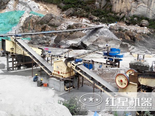 河卵石破碎制砂生产线