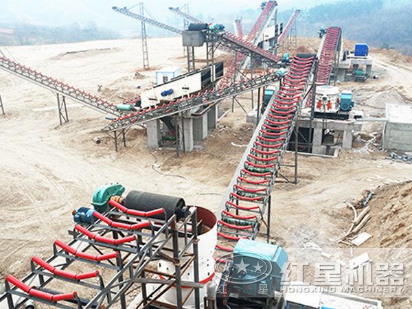 高质、高产能800万吨砂石生产线设备现场