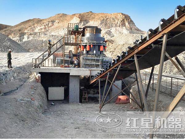 日产100--300吨的河北邢台砂石生产现场