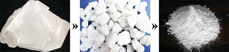 高钙石破碎磨粉效果