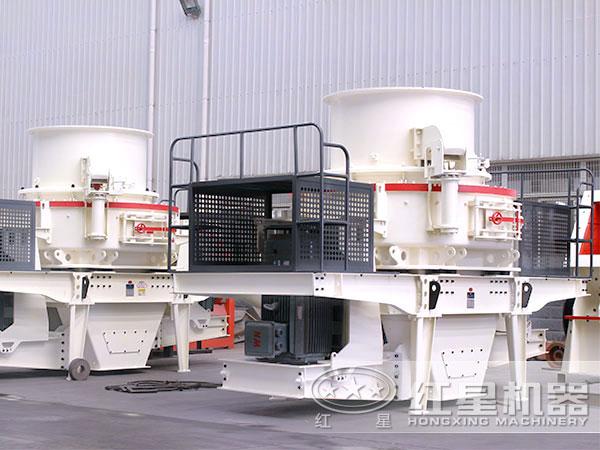 砂石冲击式效率高制砂机厂区排列整齐图