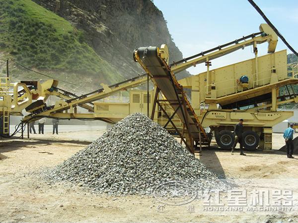 颚式移动破碎机用来生产石子