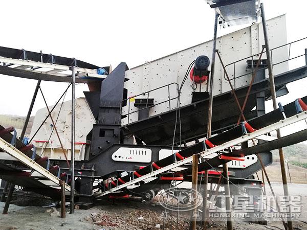 670t/h砂石HD反击碎石机_破碎机现场作业图