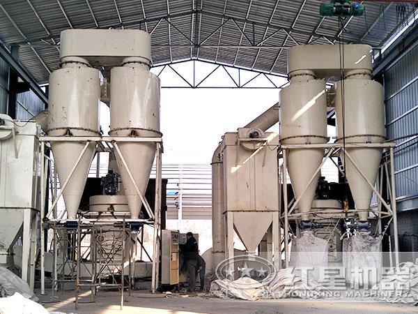 红星年产100万吨矿渣微粉生产线作业现场
