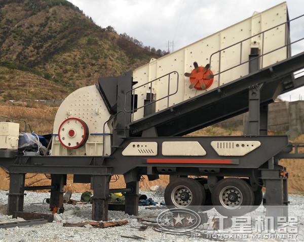 移动式石料破碎机设备
