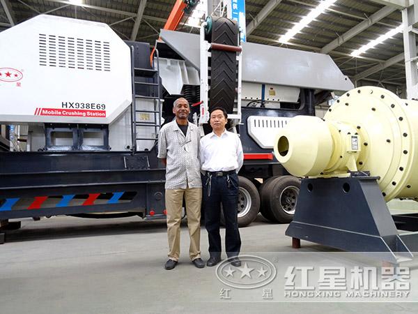 日产2000吨汽车式流动粉碎机厂区图
