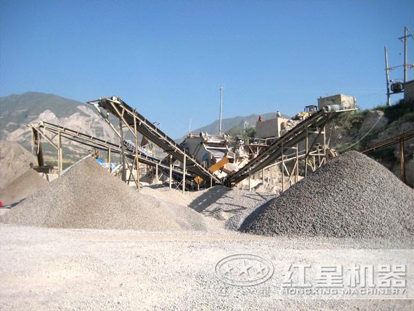 砂石生产线每天出货500吨