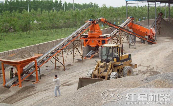 全套制砂生产线安装现场