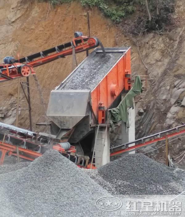 花岗岩下脚料制砂生产线现场