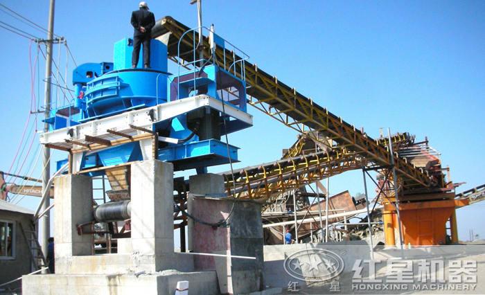 时产450吨制砂生产线现场