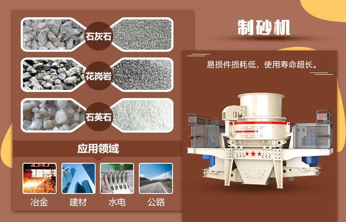 岩石制砂机应用范围