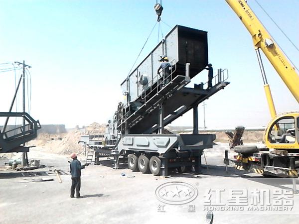 大型一体式碎石设备安装现场