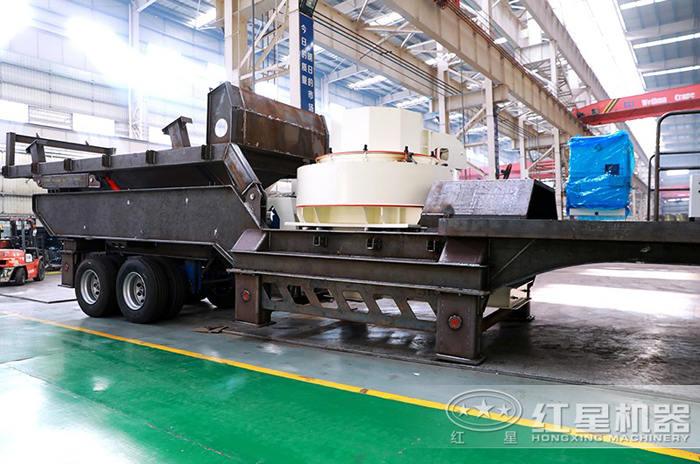 移动小型制砂机发货