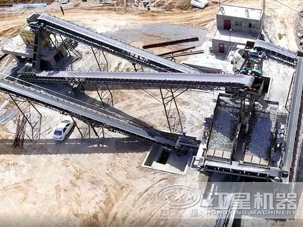 固定式制沙成套生产线现场