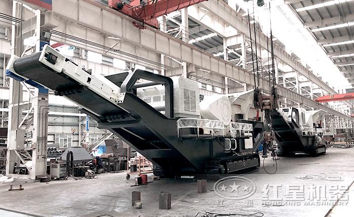 移动破碎站标准化的生产车间