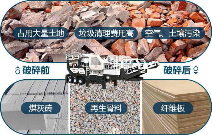 建筑垃圾处理前与处理后的影响