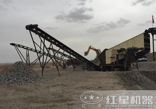 花岗岩碎石生产线客户现场