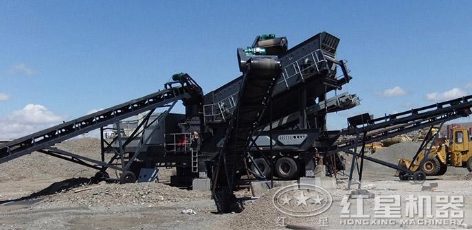 新型车载碎石机处理废石料
