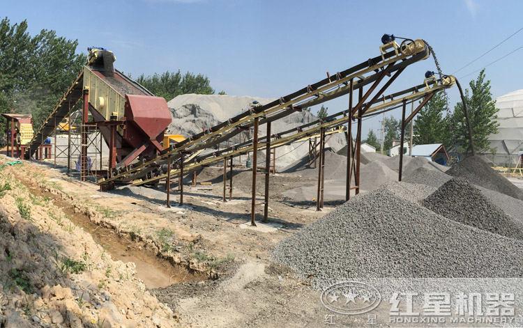 磕石子生产线现场
