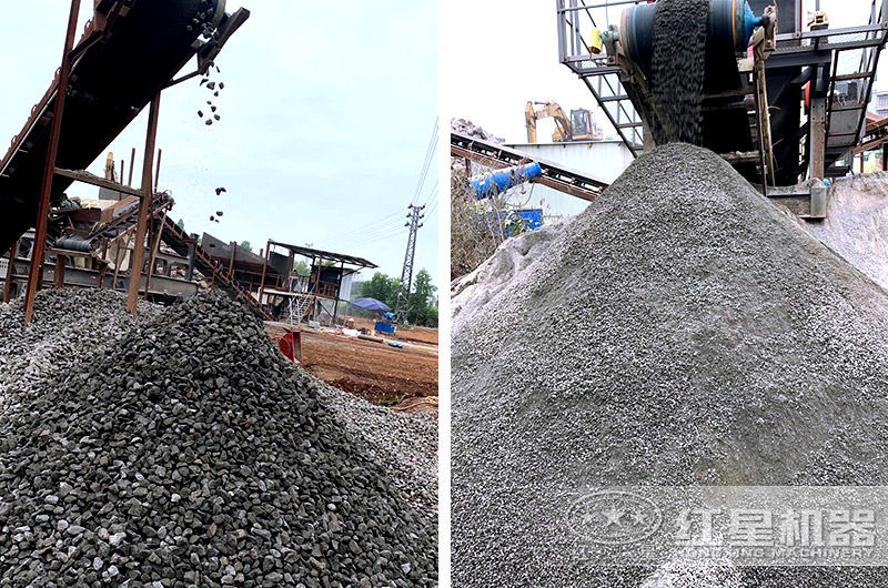 红星厂家为河南用户配置的制砂生产线