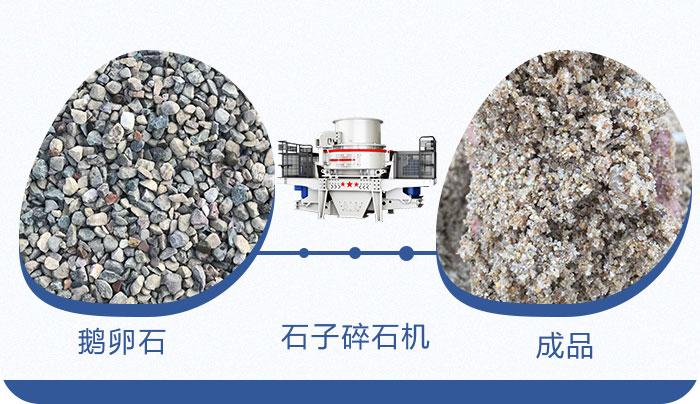 鹅卵石制成沙子成品展示