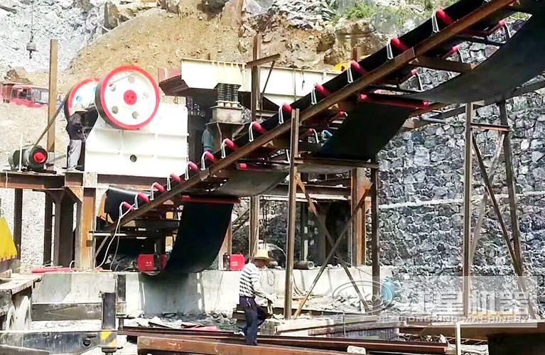 日产1万吨石料生产线安装现场