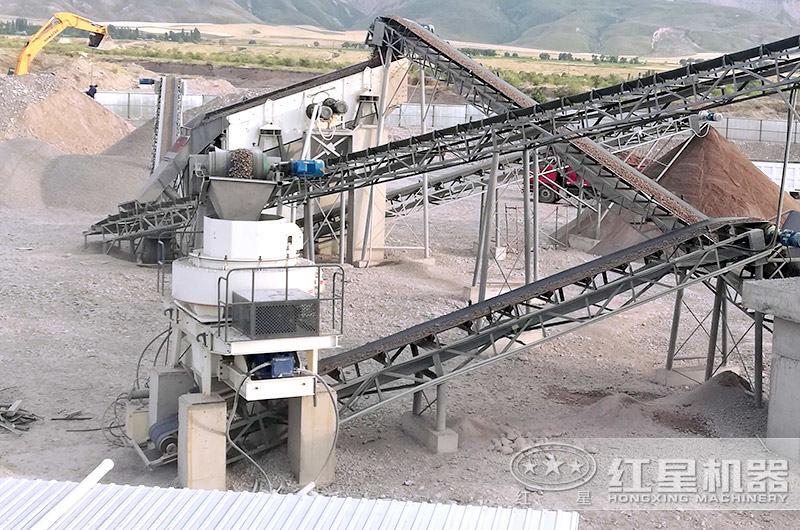 时产200吨固定机制砂设备作业现场