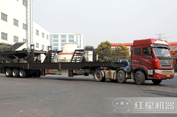车载轮胎移动制沙设备