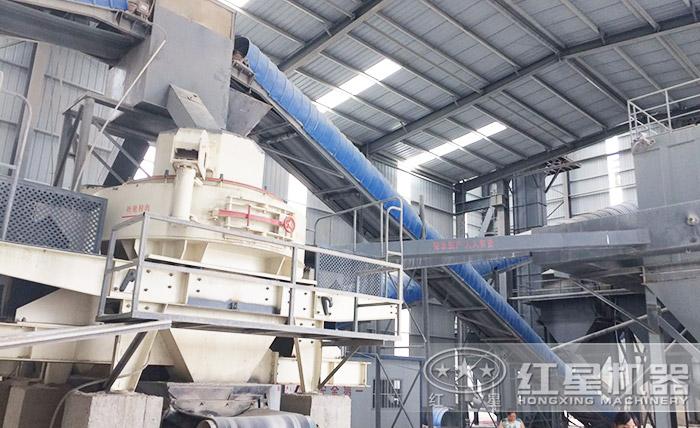 红星厂家为用户推选的河石制沙设备已投入生产
