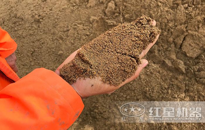 破石头制成的沙子成品展示