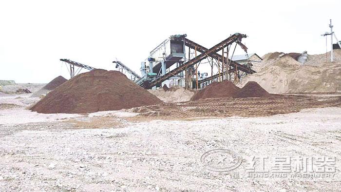 大型制沙生产现场