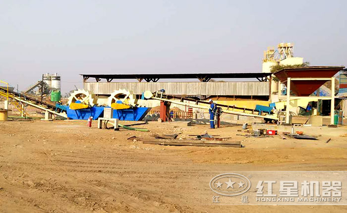 赞比亚利文斯敦大型洗砂机运行现场