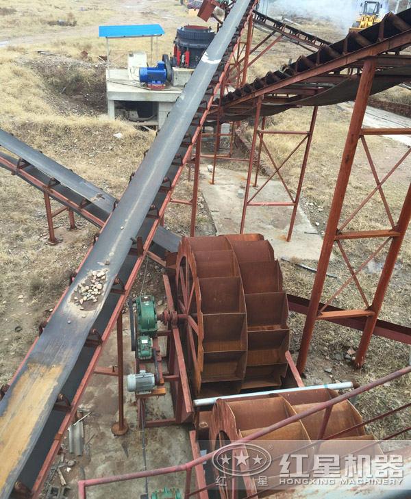 水洗砂生产线工艺流程现场