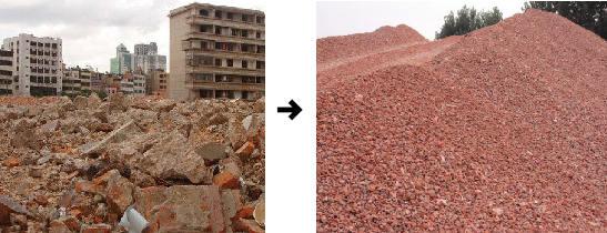 建筑垃圾粉碎效果