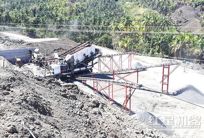 菲律宾流动碎石作业现场