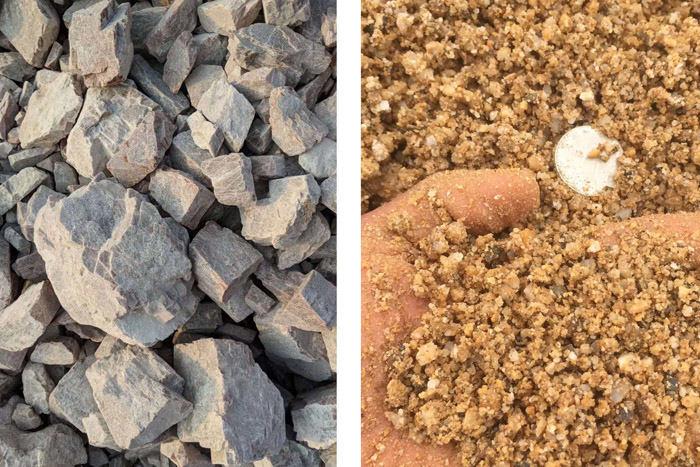 打沙机把石头打成沙子