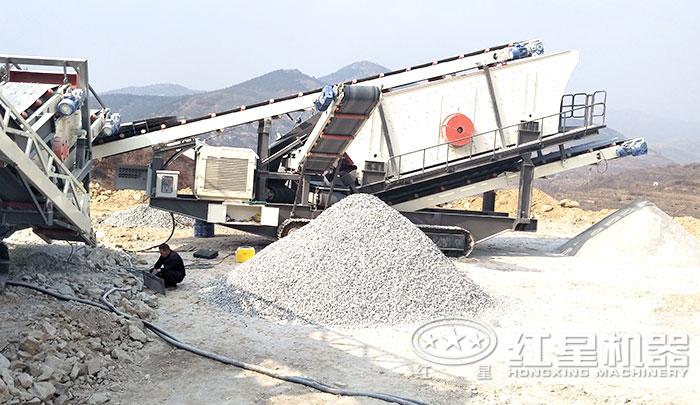 履带移动石子碎沙机