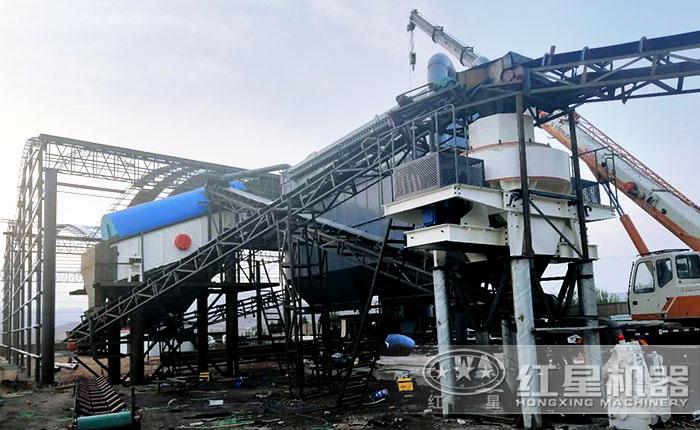 红星机器配置的时产300吨制沙生产线