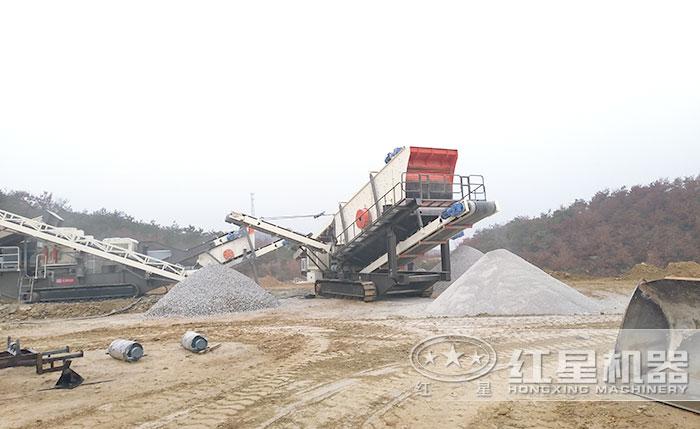 履带移动大型碎砂机用户施工现场