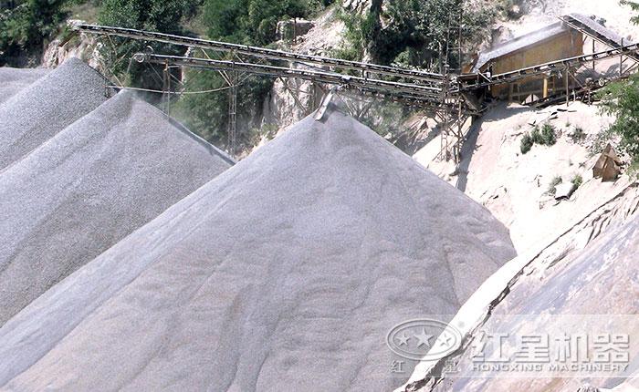 制砂生产现场出料图