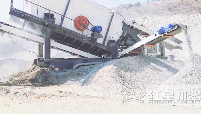 移动制沙生产现场