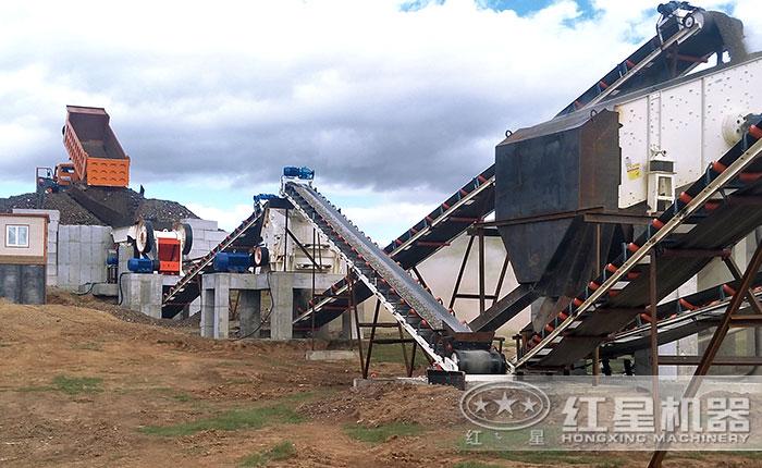 砂石生产线每天处理5000吨