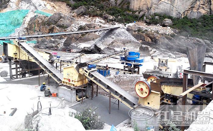 鹅卵石制砂生产线工艺流程